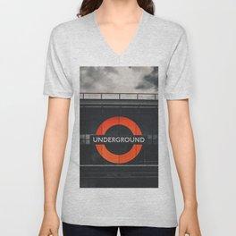 Brixtion Station, Underground Unisex V-Neck