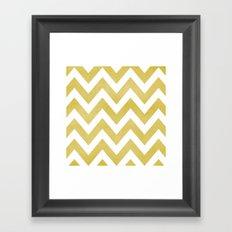 LINEN CHEVRON Framed Art Print