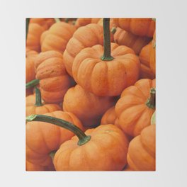 Autumn Pumpkins Throw Blanket