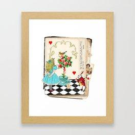 Alice's Book Alice in Wonderland Framed Art Print