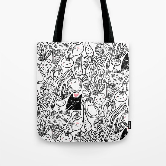 Funny Vegetables Tote Bag