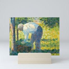 "Georges Seurat ""The Gardener"" Mini Art Print"