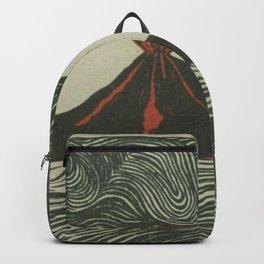 Volcano Woodcut Backpack