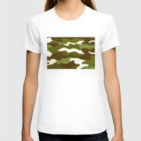 camo T-shirts featuring CAMO by Bruce Stanfield