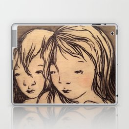 Girls caught in the wind Laptop & iPad Skin