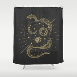 Shakti Snake Energy Shower Curtain