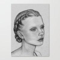 emily rickard Canvas Prints featuring Emily by Kalynn Burke