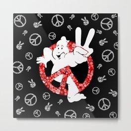 Hippie Peace Ghostbusters Metal Print