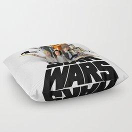 Star War Action Figures Poster Floor Pillow