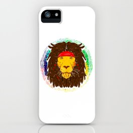 Cool Lion with Dreadlocks and Headband for Lion Lover iPhone Case