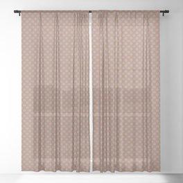 Slate Violet Gray SW9155 Tiny Uniform Polka Dot Pattern 1 on Cavern Clay SW 7701 Sheer Curtain