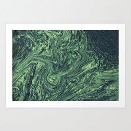 Abstract green texture Art Print