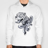 pit bull Hoodies featuring Ornamental Pit Bull by Pretty In Ink