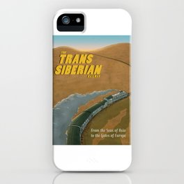The Transsiberian Railway Travel Poster iPhone Case