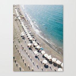 Sorrento Beach Scene Canvas Print
