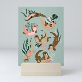 Otter Collection - Mint Palette Mini Art Print