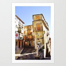 URBAN PHOTOGRAPH OF LISBON (CASTELO) Art Print