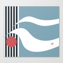 Out To Sea Maritime Abstract #blue #maritime #abstract #minimal #art #design #kirovair #buyart #deco Canvas Print