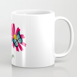 Colorful butterflies and flowers Coffee Mug