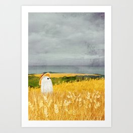 There's a ghost in the wheat field again... Art Print