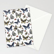 Butterfly and ladybird Stationery Cards
