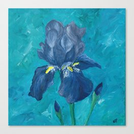 Purple Iris Artwork Canvas Print