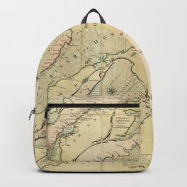 Map of the Saint Lawrence River (1771) Backpack