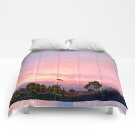 Rose Quartz and Serenity Landscape Comforters