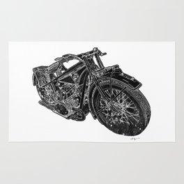 Vintage BMW R32 Motorcycle Redux Rug