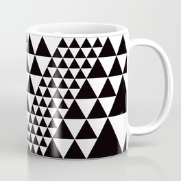 Geometric Pattern #39 (black triangles) Coffee Mug