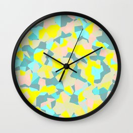geometric mix/ bright Wall Clock