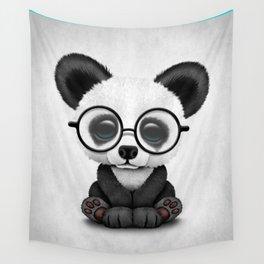 Cute Panda Bear Cub with Eye Glasses Wall Tapestry