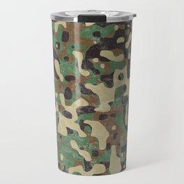 Distressed Army Camo Travel Mug
