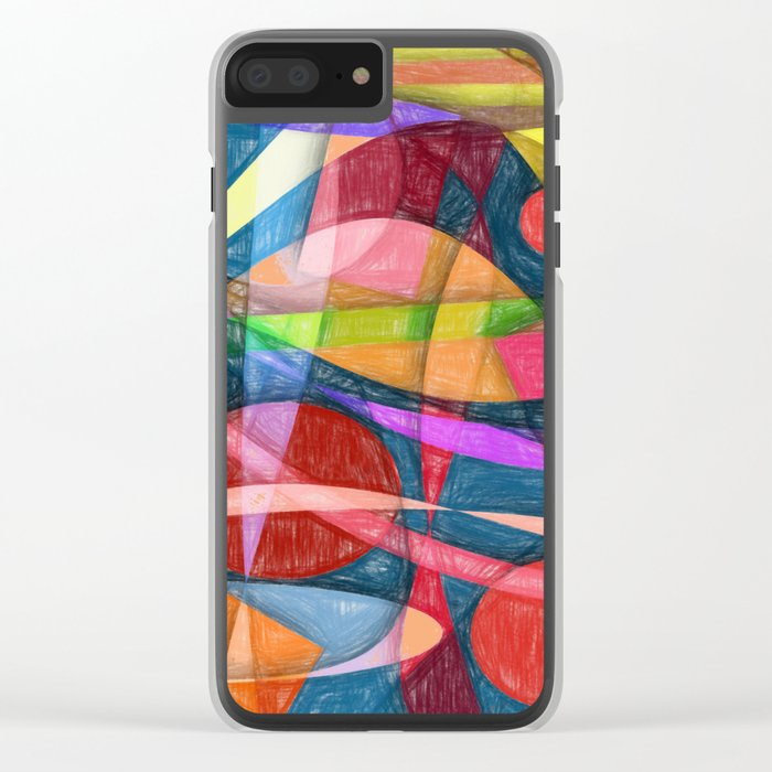 Abstract #398 Clear iPhone Case