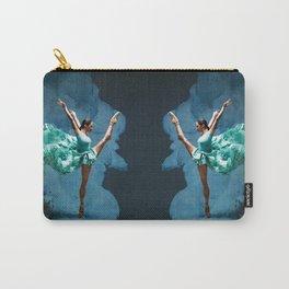 -O1- Blue Ballet Dancer Deep Feelings. Carry-All Pouch