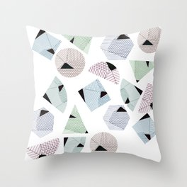 Geometricals lines Throw Pillow