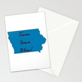 Turn Iowa Blue! Proud Vote Democrat Liberal! 2018 Midterms! Stationery Cards