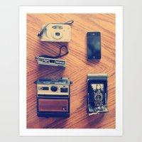 cameras Art Prints featuring Cameras by tycejones