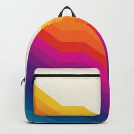 Seventies rainbow stripes Backpack