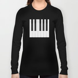 Piano / Keyboard Keys Long Sleeve T-shirt