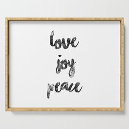 Christmas Quote Love Joy Peace Serving Tray