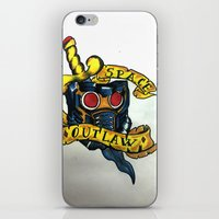 starlord iPhone & iPod Skins featuring Space outlaw by Jeksra