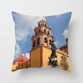 Guanajuato Basilica Throw Pillow