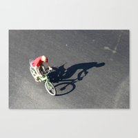 cycling Canvas Prints featuring Cycling by Avigur