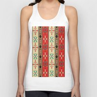 blanket Tank Tops featuring Sioux Blanket by Robin Curtiss