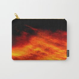 Black Yellow Red Sunset Carry-All Pouch
