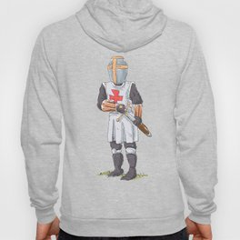 Knight Templar in armour with sword. Hoody