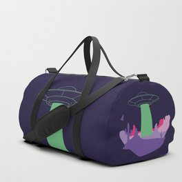 Desert ufo island Duffle Bag