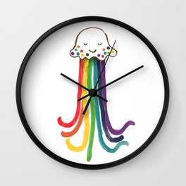 Rainbow Jellyfish Wall Clock