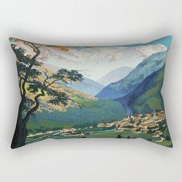 Allevard Les Bains, French Travel Poster Rectangular Pillow